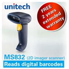 Lee más sobre el artículo Unitech MS832, nuevo lector imager 2D