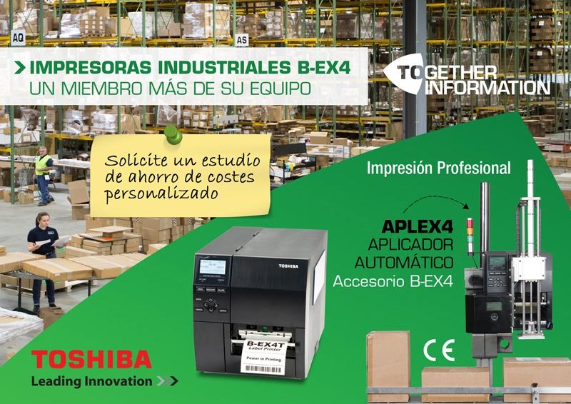 En este momento estás viendo Impresoras industriales Toshiba Tec B-EX4