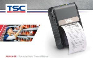 Presentamos la nueva impresora portátil TSC Alpha-2R 2 pulgadas de ancho