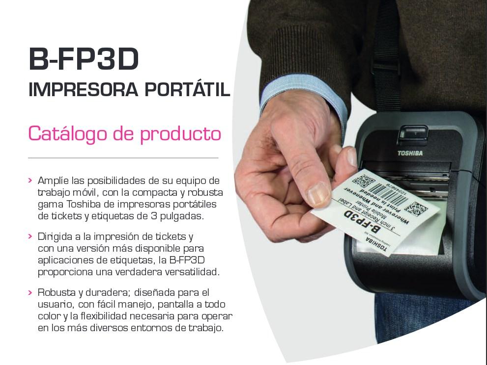 En este momento estás viendo Presentamos las Nuevas impresoras portátiles Toshiba B-FP3D